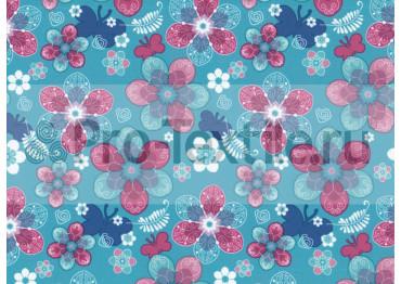 1711-138-Дюспа-Принт-Цветы-0179-голубой