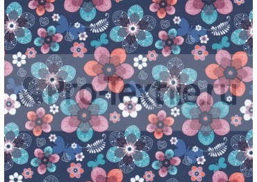 1711-138-Дюспа-Принт-Цветы-0179-т.синий