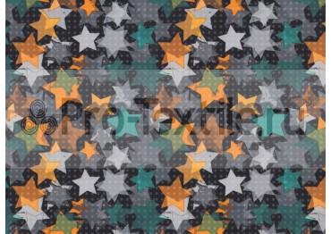 1711-139-Дюспа-Принт-Звезды-0181-оранжевый